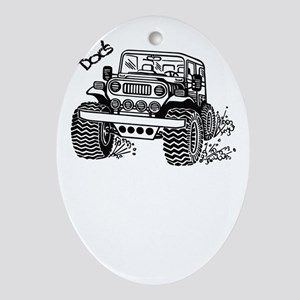 Doc's Jeep Oval Ornament