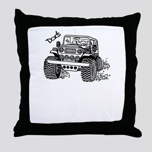 Doc's Jeep Throw Pillow