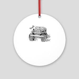 Doc's Jeep Round Ornament