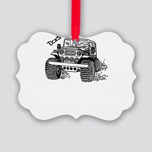 Doc's Jeep Picture Ornament
