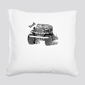 Doc's Jeep Square Canvas Pillow