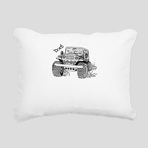 Doc's Jeep Rectangular Canvas Pillow