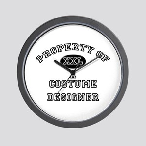 Property of a Costume Designer Wall Clock