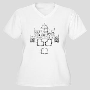 Andrea Palladio Villa Rotunda Women's Plus Size V-
