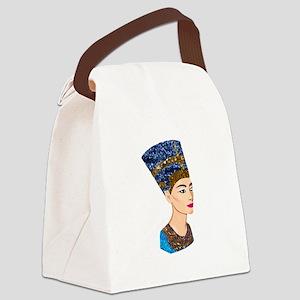 egyptian queen nefertiti Canvas Lunch Bag