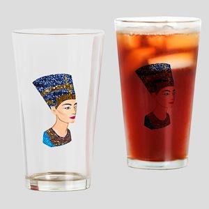 egyptian queen nefertiti Drinking Glass