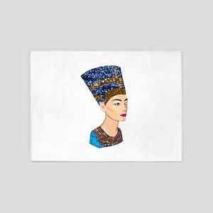 egyptian queen nefertiti 5'x7'Area Rug