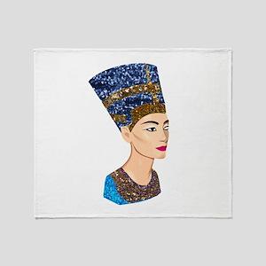 egyptian queen nefertiti Throw Blanket