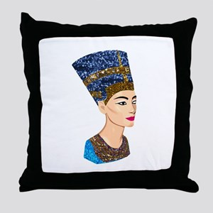 egyptian queen nefertiti Throw Pillow