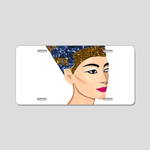 egyptian queen nefertiti Aluminum License Plate