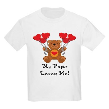 My Papa Loves Me! Kids Light T-Shirt