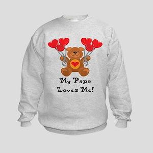 My Papa Loves Me! Kids Sweatshirt