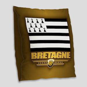 Bretagne Burlap Throw Pillow