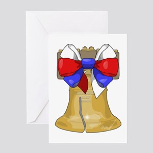 Liberty Bell Bow Greeting Card