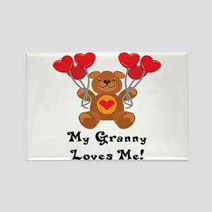 My Granny Loves Me! Rectangle Magnet