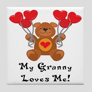 My Granny Loves Me! Tile Coaster