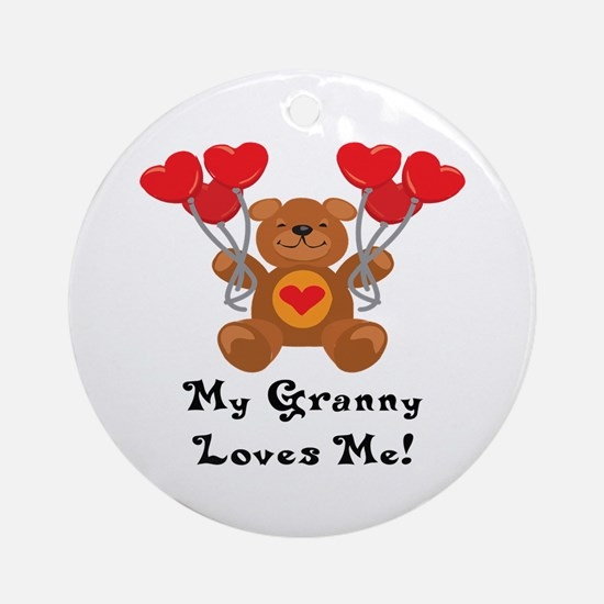 My Granny Loves Me! Ornament (Round)