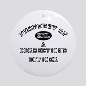 Property of a Corrections Officer Ornament (Round)