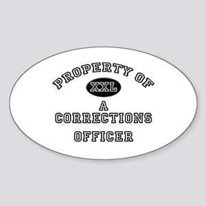 Property of a Corrections Officer Oval Sticker