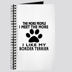 I Like More My Border Terrier Journal