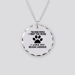 I Like More My Bernese Belgi Necklace Circle Charm