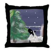 On a Cold Winter's Night Throw Pillow