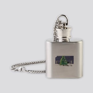 On a Cold Winter's Night Flask Necklace