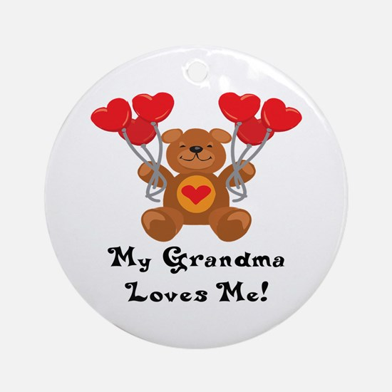My Grandma Loves Me! Ornament (Round)
