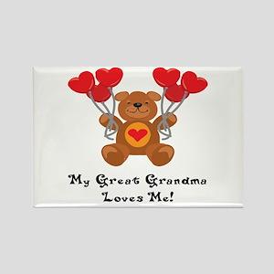 My Great Grandma Loves Me! Rectangle Magnet