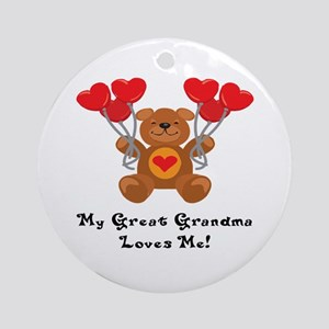 My Great Grandma Loves Me! Ornament (Round)