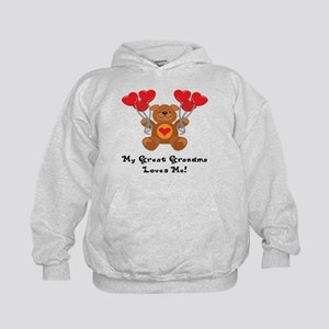 My Great Grandma Loves Me! Kids Hoodie