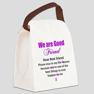 Good Friend Canvas Lunch Bag