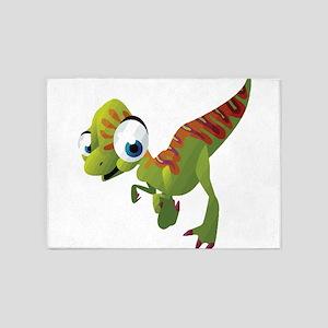 Cute Dinosaurs 5'x7'Area Rug