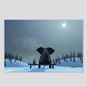 Dog and Elephant Friends Postcards (Package of 8)