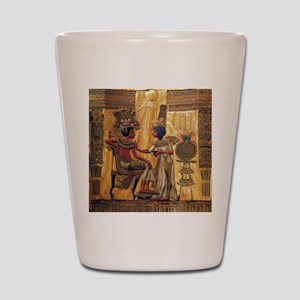 Tutankhamun Ankhesenamun Egypt Gold Shot Glass
