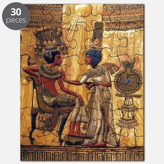 Tutankhamun Ankhesenamun Egypt Gold Puzzle