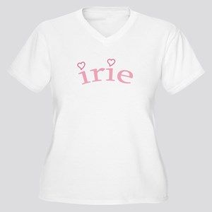 """""""Irie with Hearts"""" Women's Plus Size V-Neck T-Shir"""
