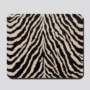Zebra Print Brown Beige Tan Mousepad