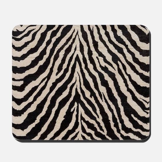 Zebra Print Brown Beige Tan Mousepad