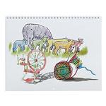 Sheep 2 Shawl Wall Calendar
