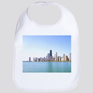 Airbrushing of Chicago Skyline Bib