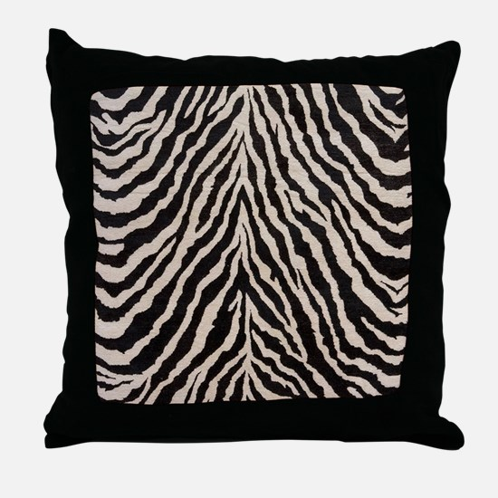 Zebra Print Brown Beige Tan Throw Pillow