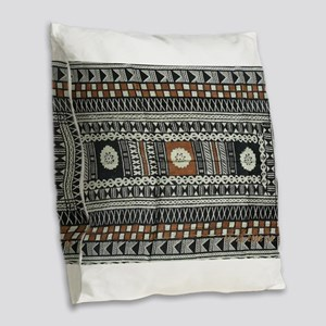 Tribal Design Burlap Throw Pillow
