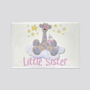 Giraffe Little Sister Rectangle Magnet