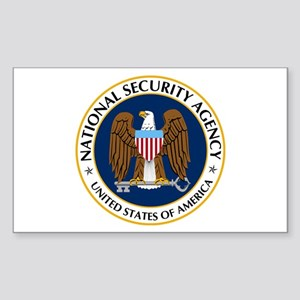 National Security Agency Sticker (Rectangle 10 pk)