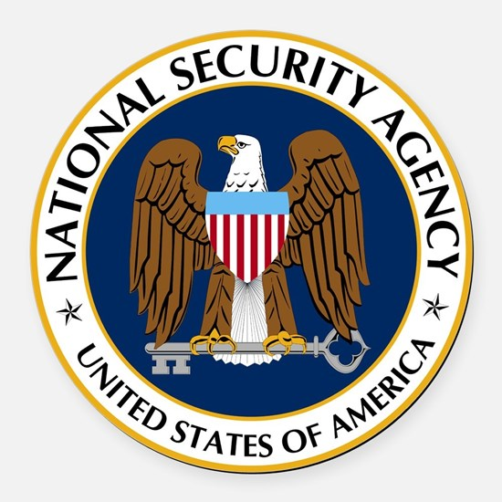 National Security Agency Round Car Magnet