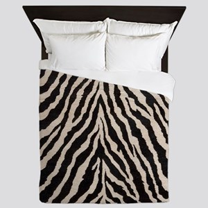 Zebra Print Brown Beige Tan Queen Duvet