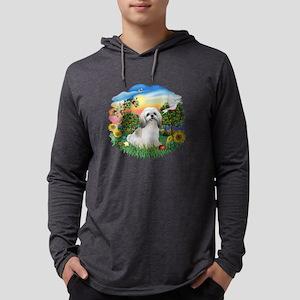BrightCouintry-ShihTzu (wt) Mens Hooded Shirt