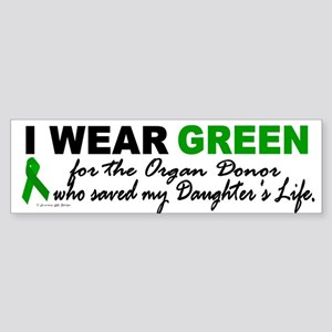 I Wear Green 2 (Saved My Daughter's Life) Sticker