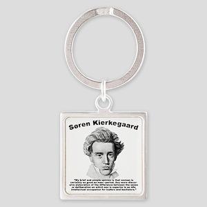 Kierkegaard Women Square Keychain